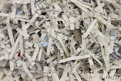 Shredded Paper Poster by Blink Images