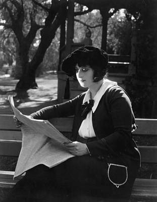 Silent Film Still: Reading Poster by Granger