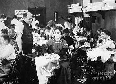 Silent Film Still: Sewing Poster
