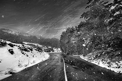 Snow Storm Poster by Guido Montanes Castillo