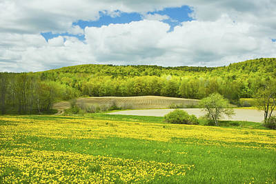 Spring Farm Landscape In Maine Poster by Keith Webber Jr