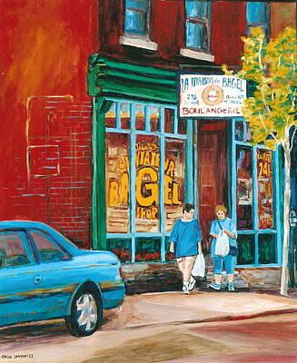 St. Viateur Bagel Shop Poster by Carole Spandau