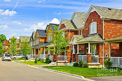 Suburban Homes Poster