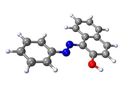 Sudan 1 Molecule Poster by Dr Mark J. Winter