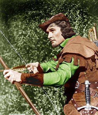 The Adventures Of Robin Hood, Errol Poster by Everett