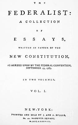 The Federalist, 1788 Poster by Granger