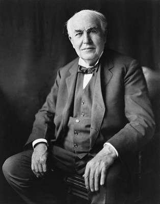 Thomas A. Edison 1847-1931 Poster by Everett