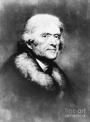 Thomas Jefferson, 3rd American President Poster by Omikron