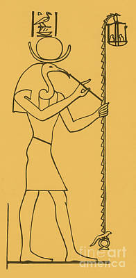 Thoth, Egyptian God Of Wisdom Poster by Photo Researchers