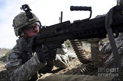 U.s. Army Soldier Provides Security Poster by Stocktrek Images