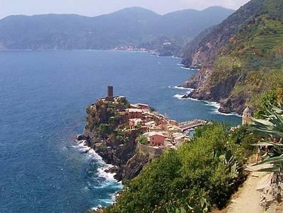 Vernazza Cinque Terre Italy Poster by Marilyn Dunlap