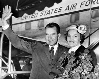 Vice President Richard Nixon And Wife Poster by Everett