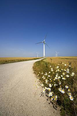 Wind Turbine, Humberside, England Poster