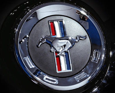 2012 Ford Mustang Trunk Emblem Poster