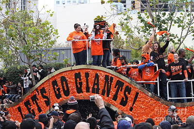 2012 San Francisco Giants World Series Champions Parade - Dpp0004 Poster by Wingsdomain Art and Photography