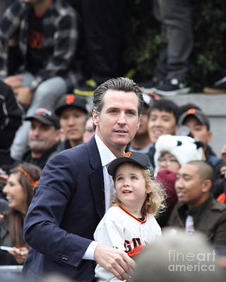 2012 San Francisco Giants World Series Champions Parade - Gavin Newsom - Dpp0005 Poster by Wingsdomain Art and Photography