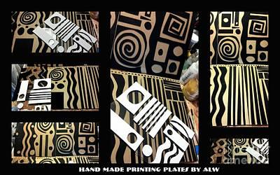 2012 Studio Play - Handmade Printing Plates Poster by Angela L Walker