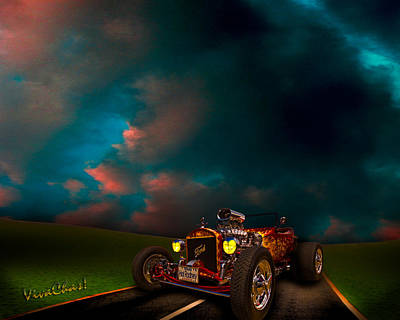 23 Model-t Ford Roadster Hot Rod Poster