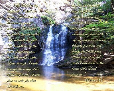 Poster featuring the photograph 23rd Psalm by Chad and Stacey Hall