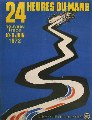24 Hours Of Le Mans - 1972 Poster by Georgia Fowler