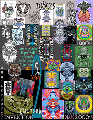 25th Anniversary Collector's Poster By Upside Down Artist And Inventor L R Emerson II Poster by L R Emerson II