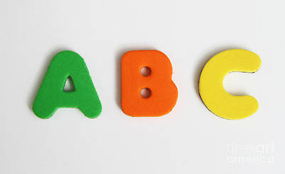 Abcs Poster by Photo Researchers, Inc.