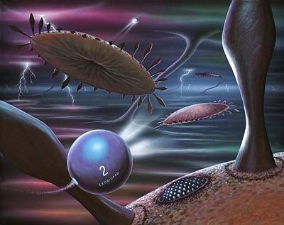 Alien Life Forms, Artwork Poster by Richard Bizley