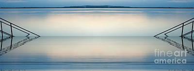 Blue Lake Poster by Odon Czintos