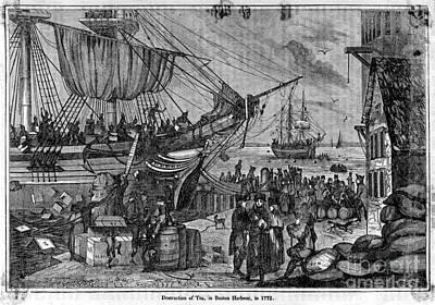 Boston Tea Party, 1773 Poster by Photo Researchers