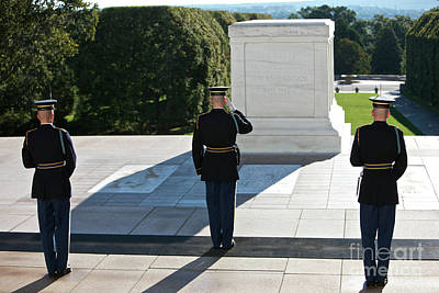 Changing Of Guard At Arlington National Poster by Terry Moore