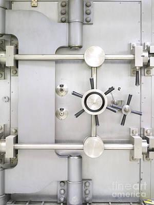 Closed Bank Vault Door Poster by Adam Crowley