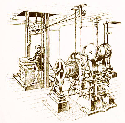 Double Oscillating Steam Engine Poster by Science Source