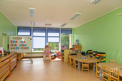 Empty Estonian Elementary Grade School Poster by Jaak Nilson