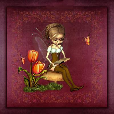 Fairy In The Garden Poster by John Junek