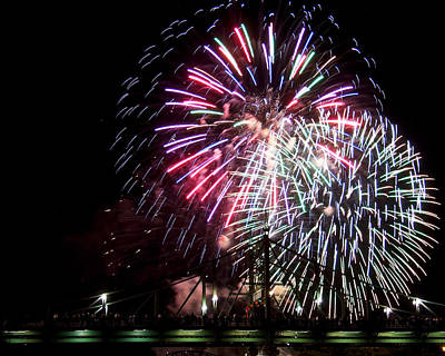 Poster featuring the photograph Fireworks by Michael Dorn