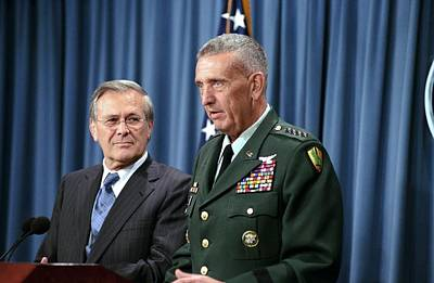 General Tommy Franks Commander Of U.s Poster by Everett