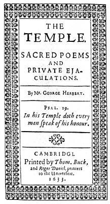 George Herbert (1593-1633) Poster