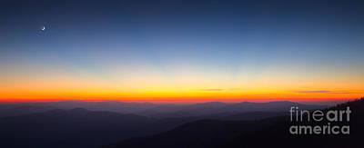 Great Smokie Mountains Sunset Poster