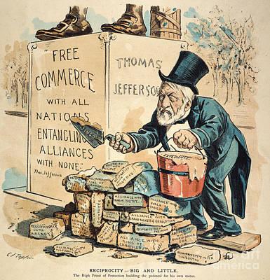 James G. Blaine Cartoon Poster by Granger