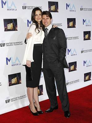 Katie Holmes, Tom Cruise In Attendance Poster by Everett