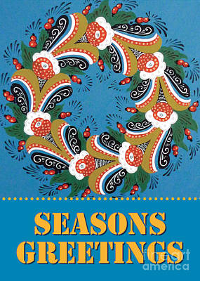 Kurbits Wreath Poster