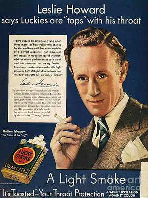 Lucky Strike Cigarette Ad Poster by Granger