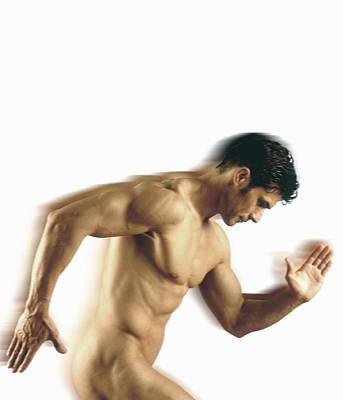 Nude Man Poster by Cristina Pedrazzini