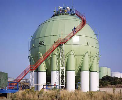 Oil Refinery Storage Tank Poster