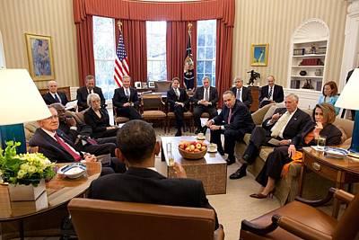 President Barack Obama Meets Poster by Everett