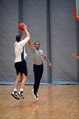 President Barack Obama Plays Basketball Poster by Everett