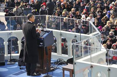 President Obama Delivers His Inaugural Poster by Everett