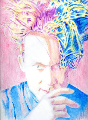 Robert In Pink And Blue Poster