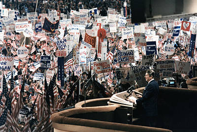 Ronald Reagan. President Reagan Giving Poster by Everett