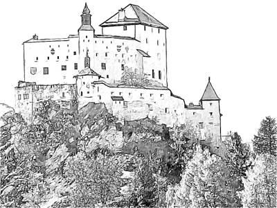 Schloss Tarasp Switzerland Poster